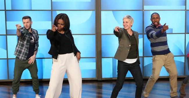 First lady, Ellen DeGeneres get groove on to 'Uptown Funk'