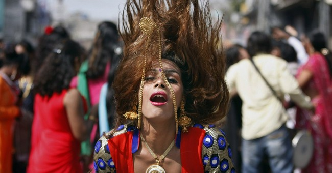 Image of Asia: Dancing at a meeting of eunuchs in India