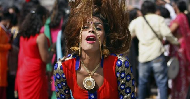 Image of Asia: Dancing at a meeting of eunuchs in India