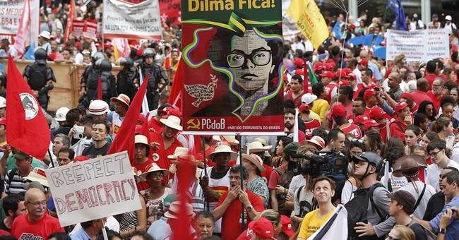 Brazil marchers hit streets to support Petrobras, president
