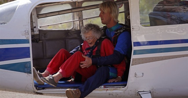 South African woman celebrates 100th birthday with a skydive