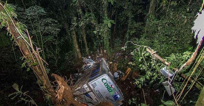 Brazil raises toll of bus accident to 54 dead, 10 injured