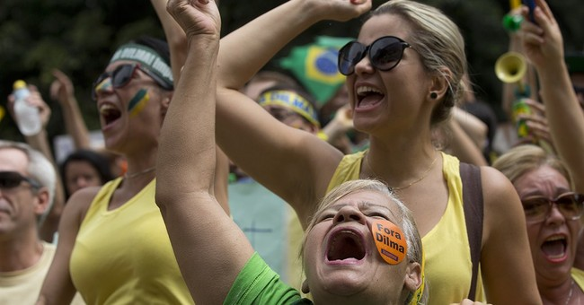 Hundreds of thousands march to ask Brazil president's ouster
