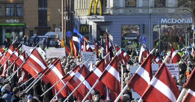 Latvian march honors veterans who fought alongside Nazis