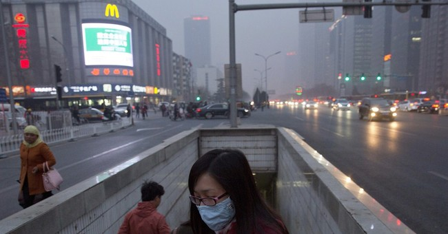 Image of Asia: On the street in smoggy Chinese capital