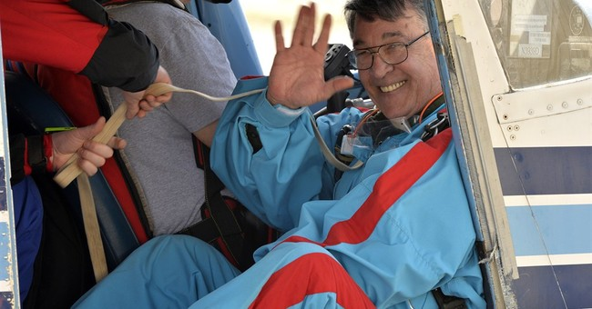 A giant leap - from a plane - for Kentucky governor hopeful