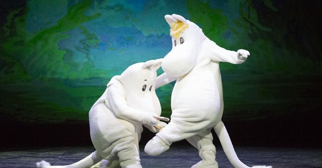 In Finland, the Moomins are dancing a pas de deux