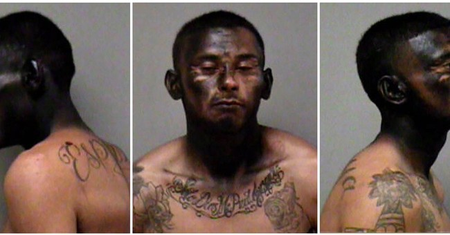 Police: Suspect spray-paints face to avoid identification