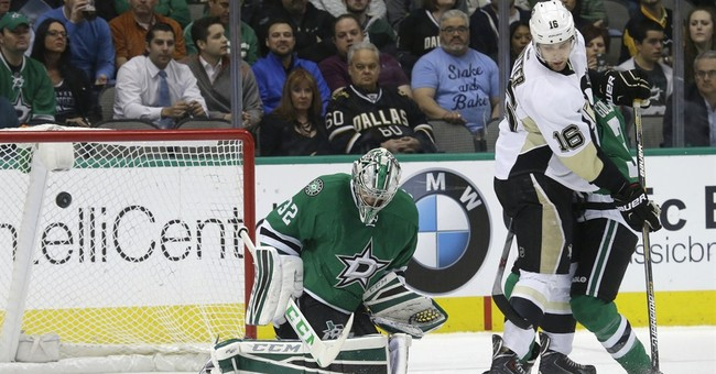 Stars hold on for 2-1 win over Penguins
