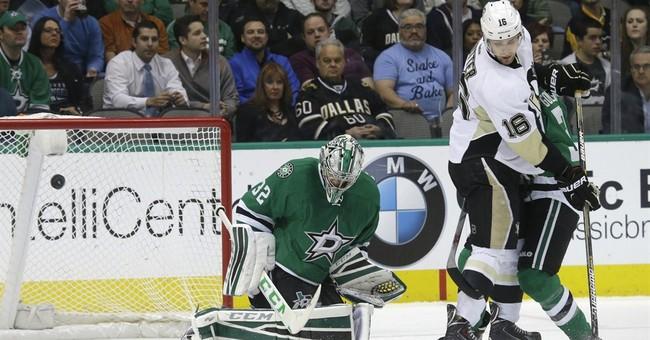 Stars hold on for 2-1 win over Penguins