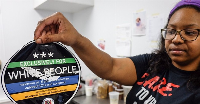'Exclusively for white people' stickers put on Austin stores