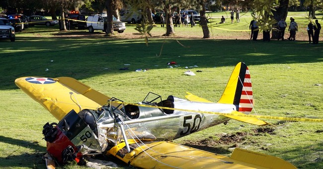 Actor Ford, who recently crashed plane, is air film narrator
