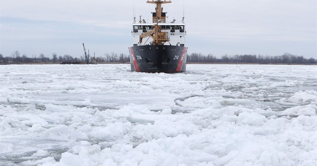 Coast Guard welcomes spring by breaking up Great Lakes ice