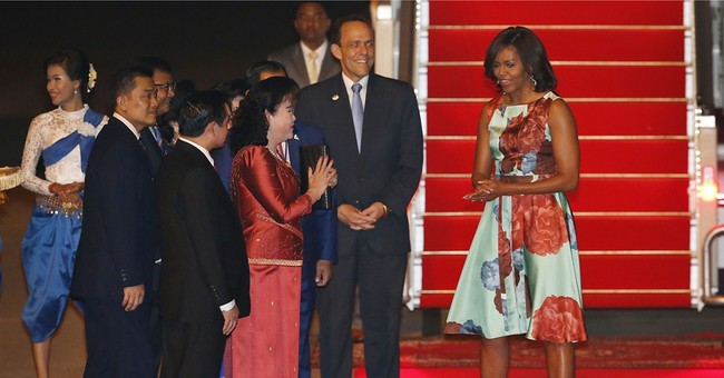 US first lady in Cambodia to promote girls' education