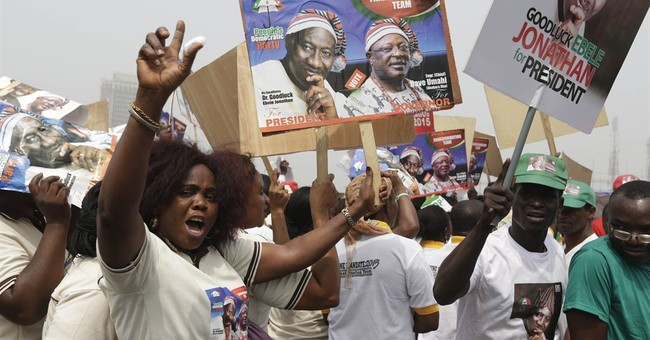 Nigerian leader launches re-election bid amid troubles