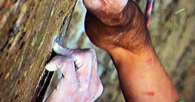 1 of 2 attempting world's hardest rock climb battles section