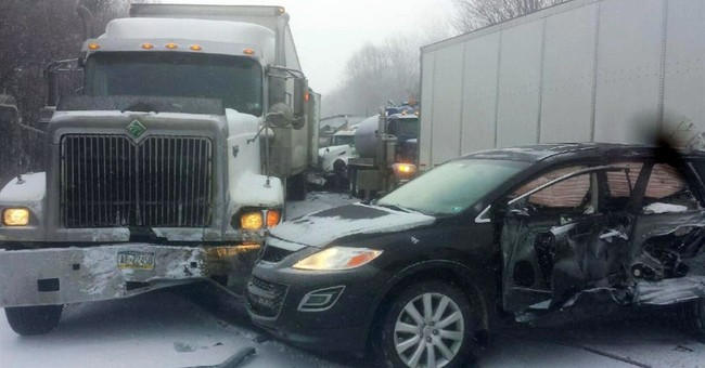 2 dead in 18-vehicle pileup on Pennsylvania highway
