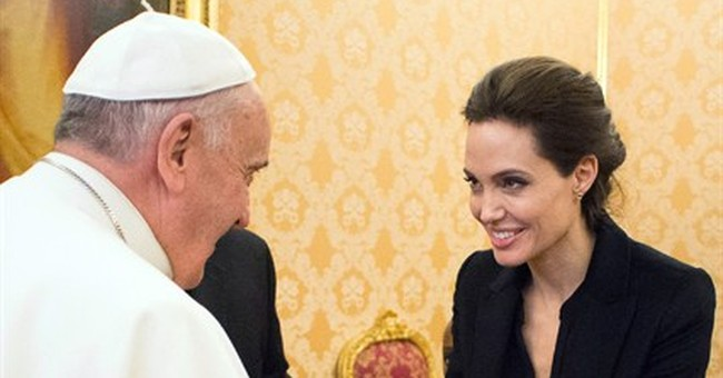 Angelina Jolie screens 'Unbroken' in Vatican, meets pope