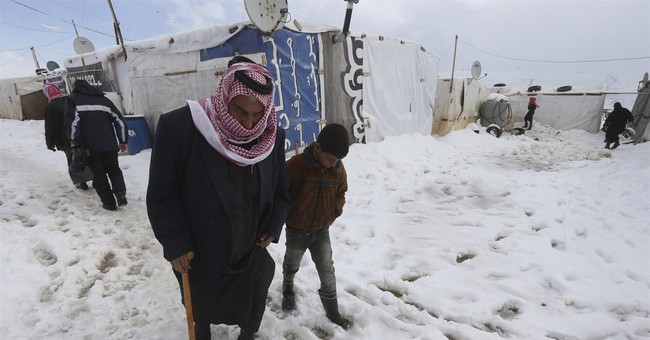 Syrian opposition calls for help amid Mideast snow storm