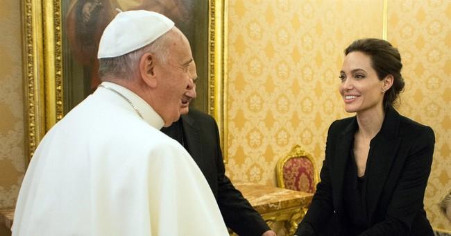 Angelina Jolie screens 'Unbroken' in Vatican, meets pope