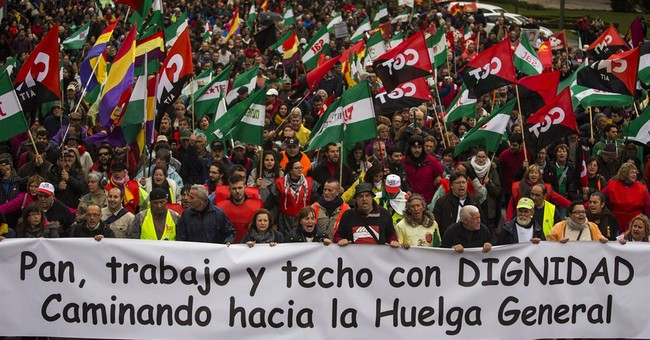 Thousands gather for anti-austerity rally in Spain
