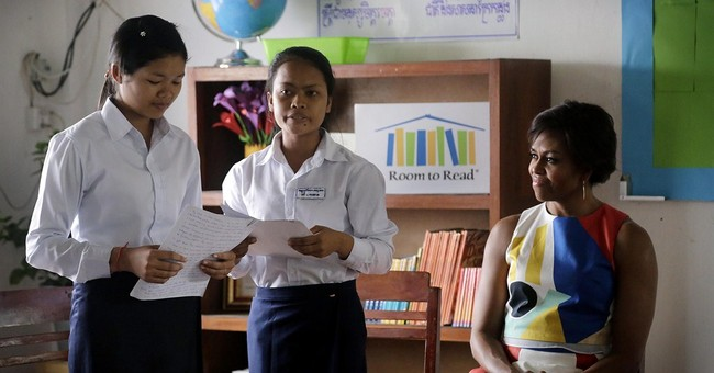 US first lady urges Cambodian students to seek more freedoms