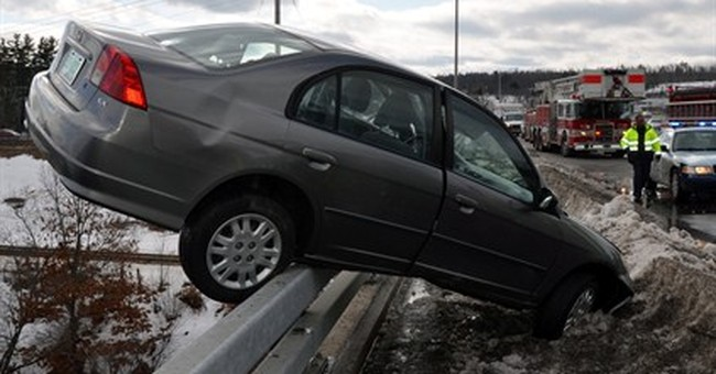 Teen escapes car hanging off bridge over river