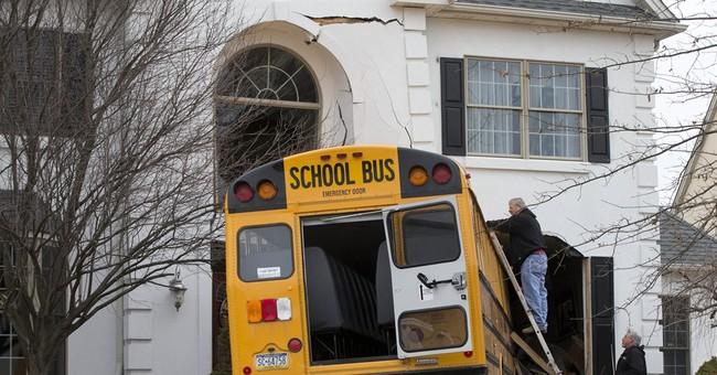 School bus rams through front of suburban Philadelphia home