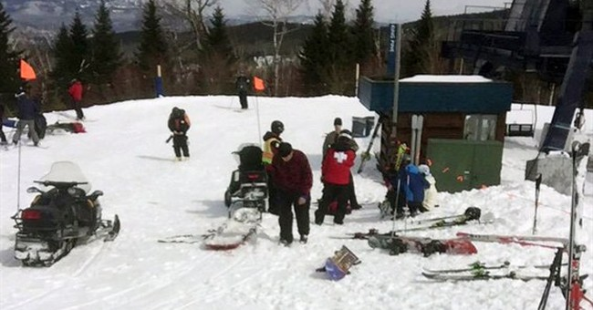 Maine ski area chairlift mishap caused by broken drive shaft