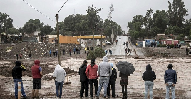 Heavy rains cause flooding in usually bone-dry Chile desert