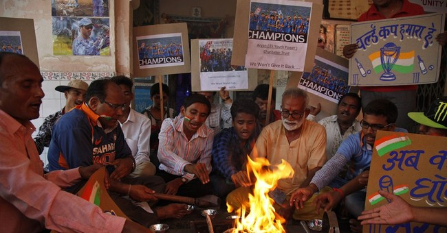 Image of Asia: Supporting India's team in Cricket World Cup