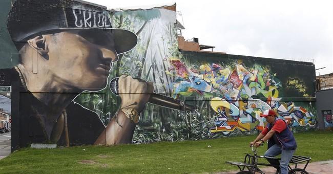 Graffiti boom born in tragedy brightens up Colombia capital