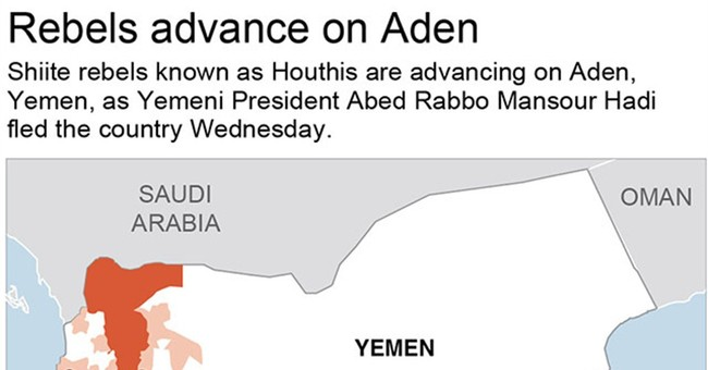 President of Yemen flees by sea; Saudis begin airstrikes