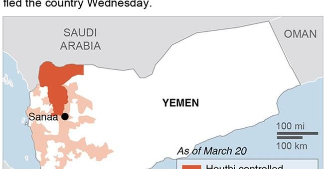 Saudis begin airstrikes against Houthi rebels in Yemen