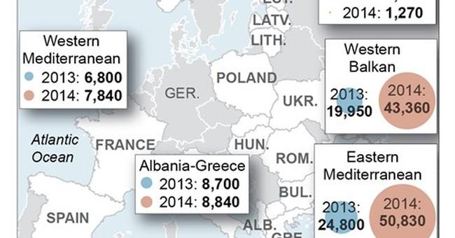World's huddled masses use 4 key land, sea routes to Europe