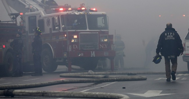 Latest on NY fire, building collapse: No gas odors reported
