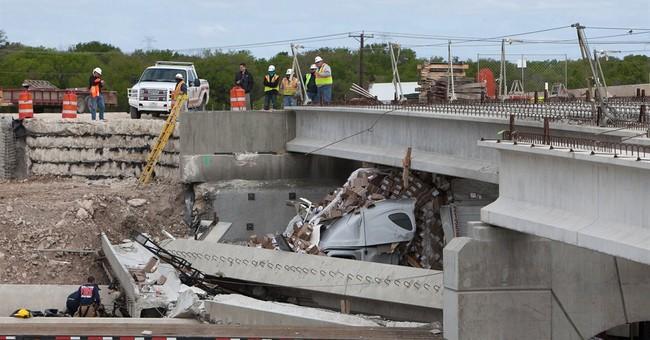 Semi plows into unfinished Texas interstate bridge; 1 killed