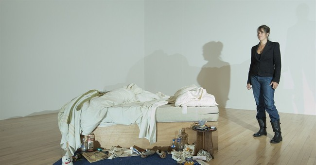 Tracey Emin's messy bed installed at Tate Britain