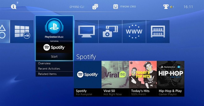 PlayStation gets Spotify, replacing Sony's own music service