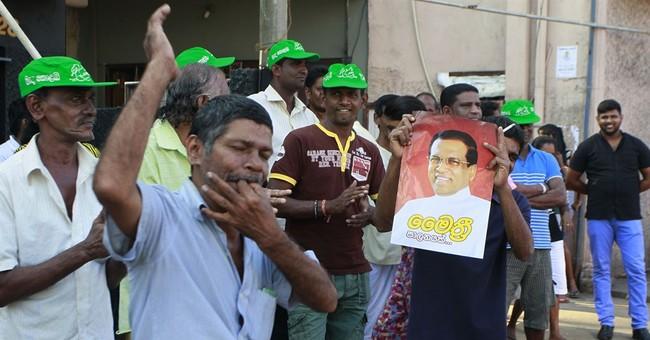 Challenger Sirisena elected Sri Lanka's new president