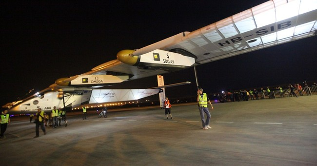 Solar-powered plane lands in China on round-the-world flight