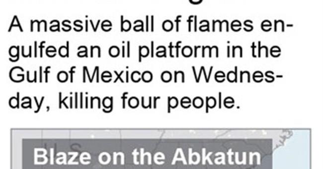 Mexico's Pemex: 3 workers still missing after platform blaze