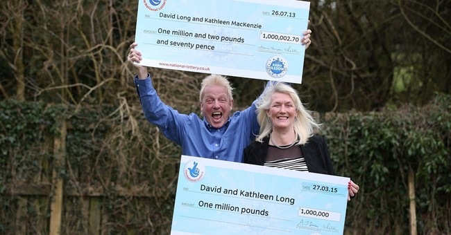 British couple win a million in lottery for 2nd time