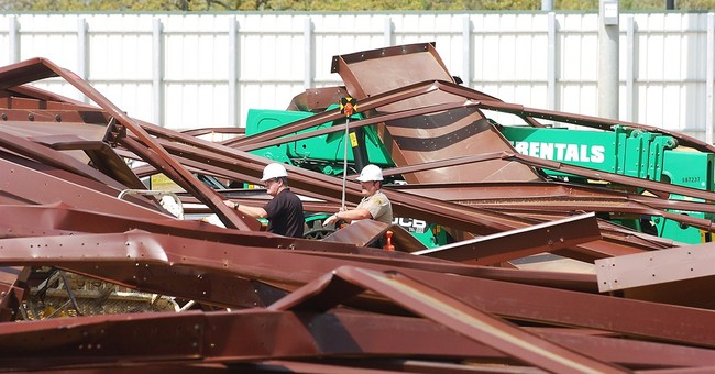 1 worker dead, 3 hurt in steel frame collapse in North Texas