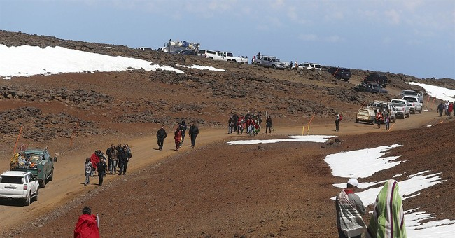 Protesters arrested blocking road to giant telescope site