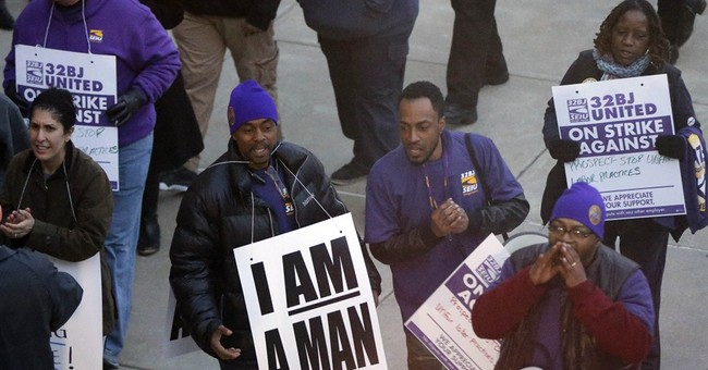 Philly airport workers strike, protest wages and benefits