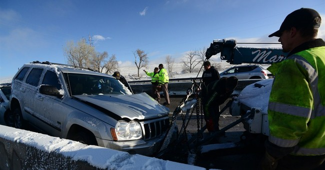 Icy roads cause 39-car pileup, other wrecks in Colorado