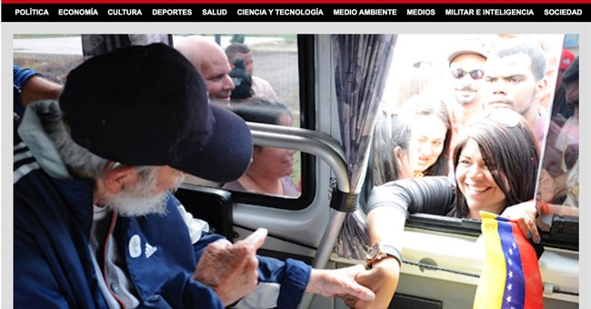 Former president Fidel Castro appears in public in Cuba