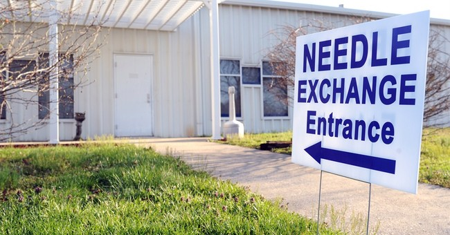 Indiana begins needle exchange in county with HIV outbreak
