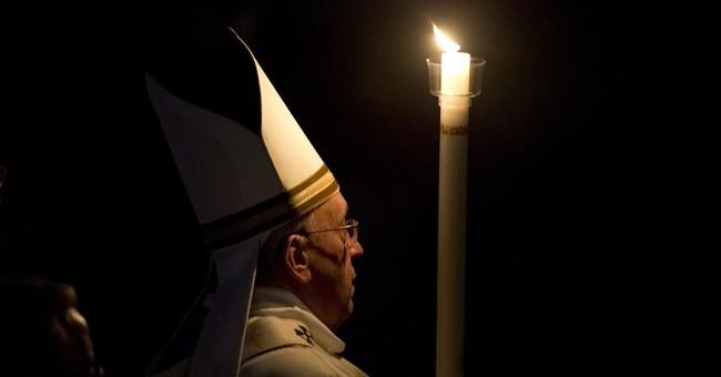 Pope presides over Easter Vigil service amid martyr concerns